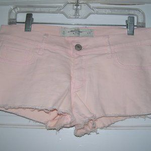 Abercrombie & Fitch Studded Pink Denim SHORTS